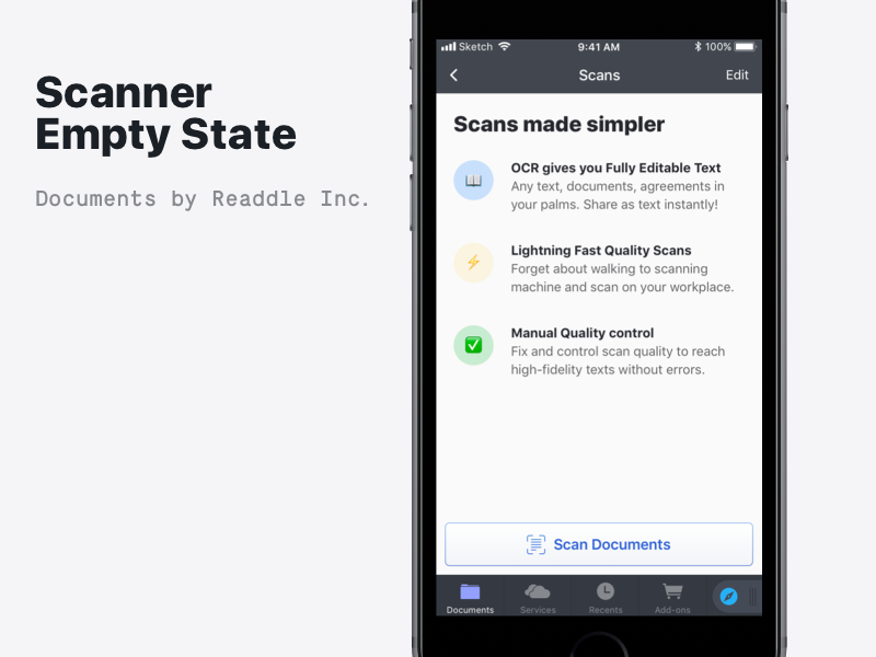 🖨 Empty State for Scanner by Alexander Vilinskyy on Dribbble