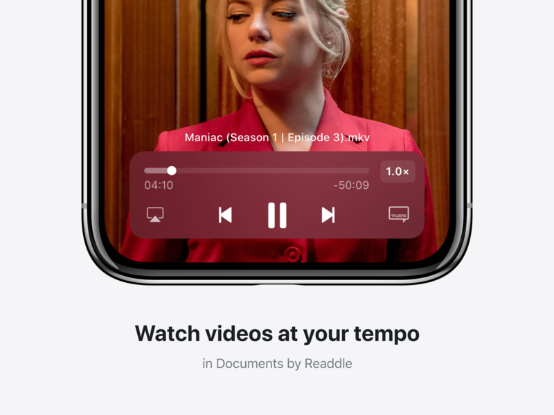 📼 Video Player player tempo name readdle ui documents ios video