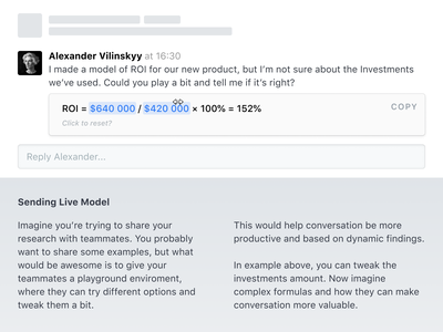 ↔️ Dynamic embedded content dynamic embed text message chat ux ui
