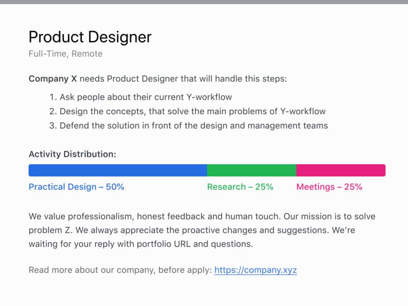 📌 Modern Job Posting description job concept