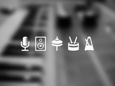 Music Icons icons ios ui microphone bass clap tremble music vector piano tempo icon virtual drum machine ipad app free freebie download