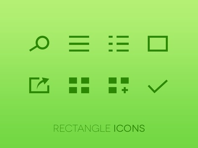Rectangle Icons