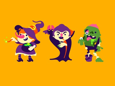 Friday The 13th Party character illustration zombie vampire halloween witch friday the 13th