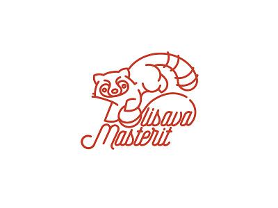 Olisava Logo Option 1 animal threads of ball logo knitting panda red