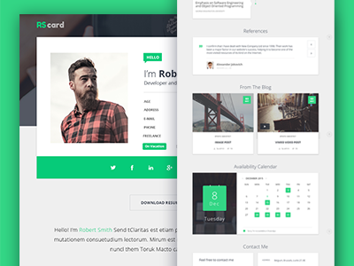 Material Design Resume CV and Portfolio by PxLab Dribbble