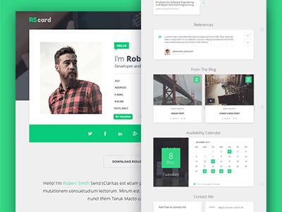 Material Design Resume / CV and Portfolio personal career job vcard blog portfolio resume cv material design material