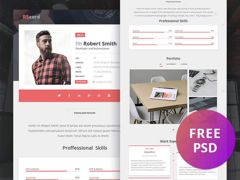multiprofile resume cv  u0026 portfolio wordpress by px