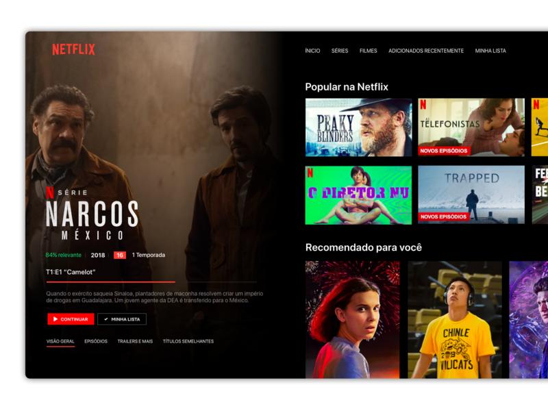 [Redesign] Netflix for Apple TV apple clean app website minimal redesign concept concept video ux ui appletv redesign netflix