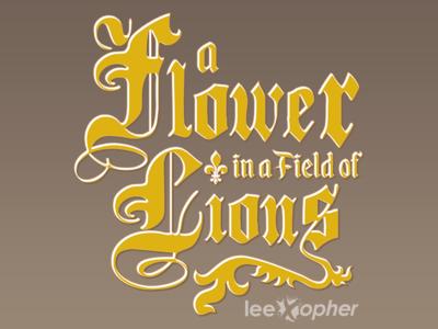 A Flower In A Field Of Lions Logo