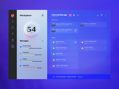 Colorful file manager for Trend Micro - Web Design web design webdesign clouds cloud file opacity trend trend micro information security sphere dashboard color