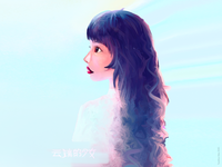 Asian girl portrait illustration modest doozie 女票 高 glow illustration girl beautiful pretty