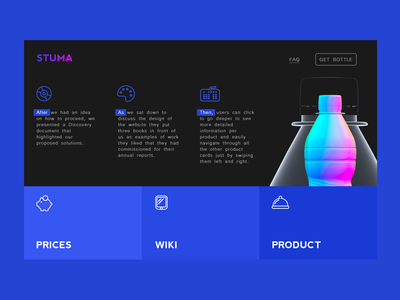 Promo Page Concept 设计师 设计 应用 powerful web ui site simple quick bottle dark ux promo