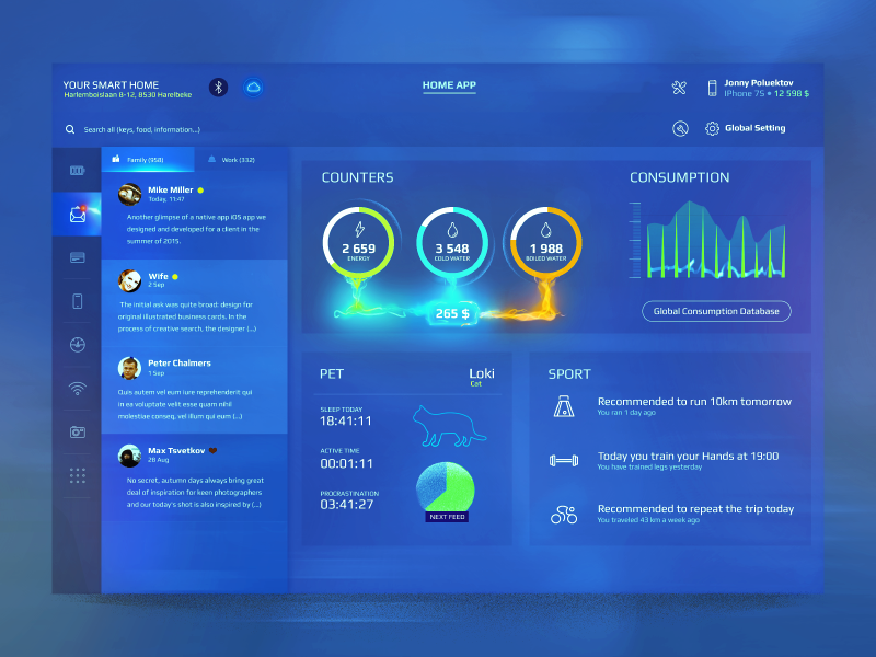 Automation App For Home Monitoring Dashboard Smart Home  Ud83d Udc4d Ud83c Udffb Ud83d Udc4d Ud83c Udffc Ud83d Udc4d Ud83c Udffe By Max Tsvetkov On Dribbble