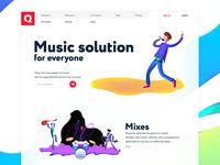 One Wavy Minimal Music Service Page QIANQIAN