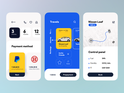 Car Sharing App in modern robust style