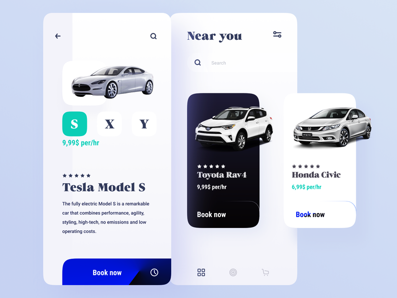 Tesla car sharing showcases, mobile price monitoring app 车费 导 future car app app sports car 气车 toyota tesla typography mobile ui self-driving sharing car mobile