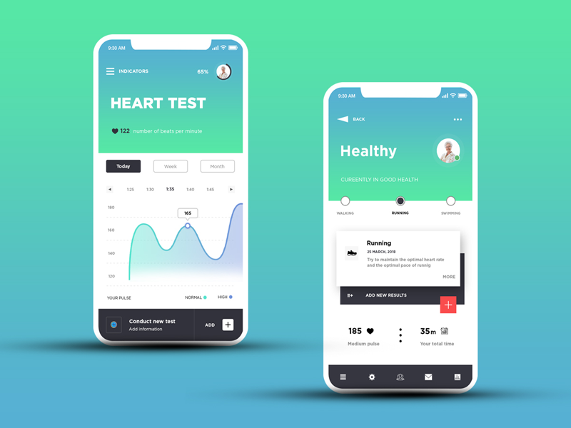 My Health - UX / UI design for mobile app kirko agency app mobile ukraine infographic design medical design medical app architecture creative app design agency health app ios app android app startup mobile design iphone x ux design app ui design mobile app ui design