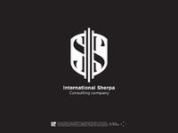 Logotype sherpa international by kirko team white
