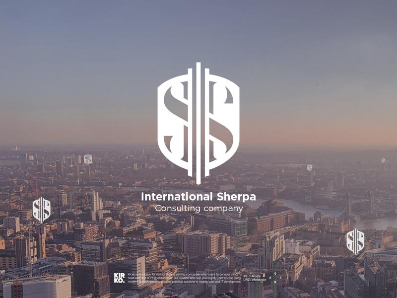 Company logo design - International Sherpa (consulting service)