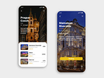 UI/UX Mobile design from International Sherpa