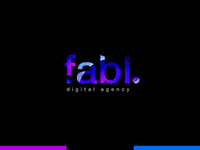 Digital logo design for fabl type design illustrator typogaphy inspiration branding logotype kirko team digital logo