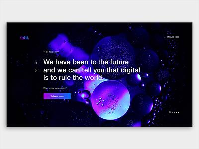 Landing Page for digital agency Fabl inspiration web app website kirko team landing page web design