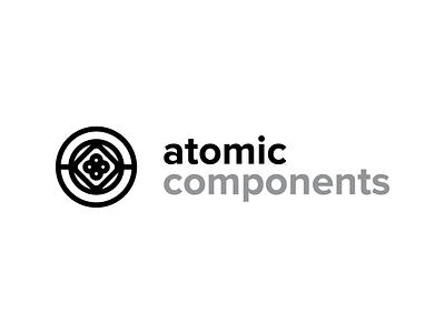 Atomic Components Logo components atomic design atomic components minimal identity mark branding logo architecture interface ux ui
