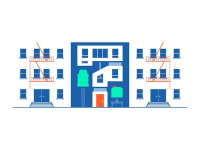 Leasing History apartment leasing startup nyc empty state flip illustration