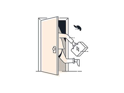 Flip Instant Illustrations visual language sublet rental landing page illustration housing home flip brand system apartment