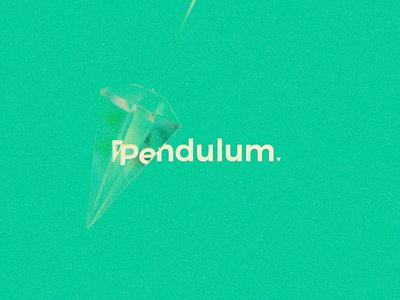 Pendulum hiwow glass art web ux ui motion logo gif design concept cycles blender animation abstract minimalist text type pendulum