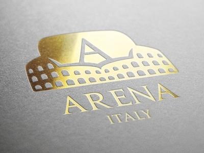 """Arena Italy"" logo gold"