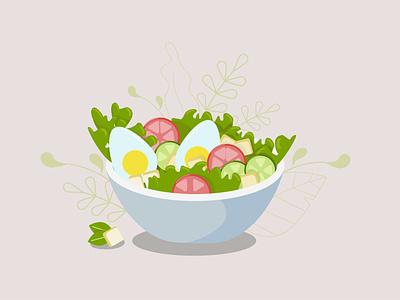 salad salads food illustration health and fitness health food healthy health salad bar vector illustration salad