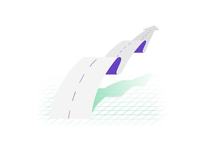 Road to Success (3/3) editorial blastoff success progress grid retro road illustration test sat prep minimal ios icon act flat app