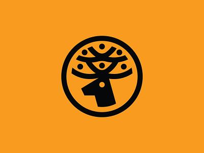 Deer Logo mark connection connected people deer logo