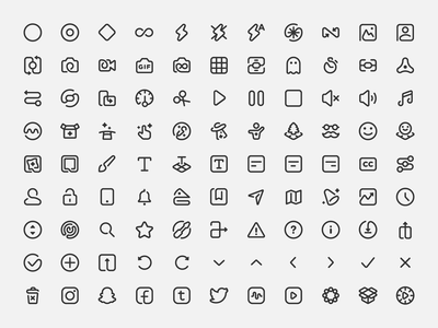 99 Magicons mobile app app iconography vr ar social camera magic icon set icon pack icons