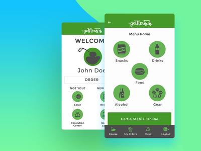 Golfler App UI Design