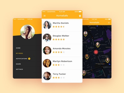 HomeSafe App Interface Design