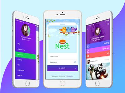 Nest Mobile App UI Design