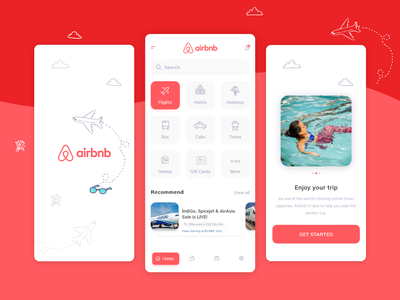 Airbnb - Redesign app design ux design ui design app ux ui design ui ux design homes cab taxi bus trip reservation hotel booking flight travell redesign airbnb