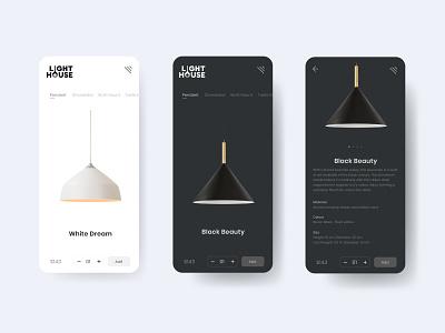 Lighthouse application  ui ux design prototype design concept uiux after effects application