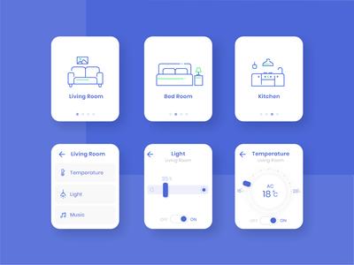 Smart Home Watch App Concept Design application uiux watch concept watch smart app watchapp smart home app