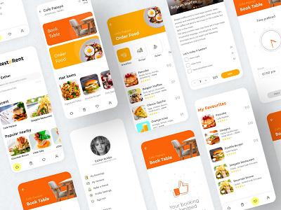Restaurant table booking app app design food app mobile ui mobile app ui ux design booking system concept restaurant app booking design ui prototype concept design app after effects application uiux