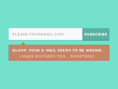 A little form - With PSD newsletter error green red design minimal form clean light web message ui