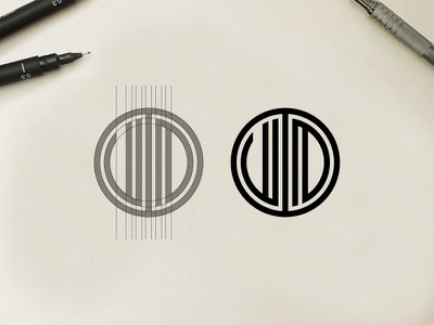 Logo Concept V & D Grid Work - FSVISUALS logo illustration design fashion apparel abstract clothing bodybuilding fitness branding