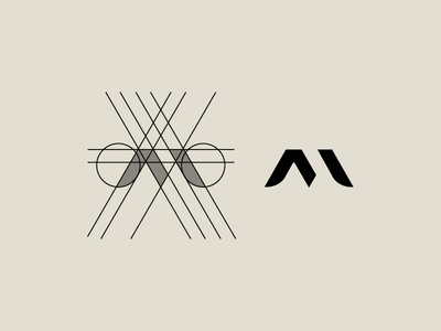 Letter M Grid for M-TEC designagency logoconstruction minimallogo fsvisuals logogrid technology