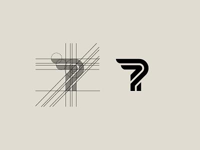 Letter P Grid Work - FSVISUALS fashionlogo clothinglogo fitnesslogo logodesign designagency fsvisuals