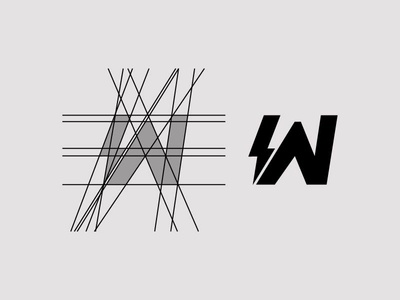 W + Bolt Logo Mark - FSVISUALS gymshark fsvisuals fitnesslogo fitness clothinglogo bodybuilding alphalete
