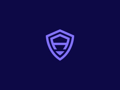 Letter A + Shield - FSVISUALS fsvisuals graphicdesigner branding designagency agencylogo techlogo securitylogo shield logodesign