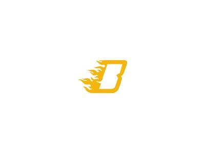 B + Fire Logo Design - FSVISUALS