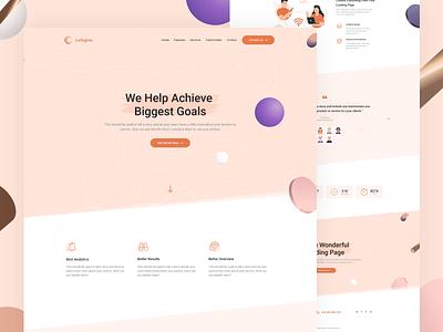 LeSigma - Isometric Business Adobe XD Landing Page Template xd design xd illustration design branding typography web landing themeforest envato